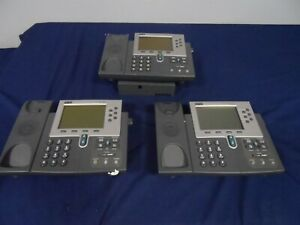 Cisco 7960 Ip Phone Cp 7960 Grey 7900 Series Display Lot Of 3 As Is Wont Boot