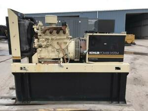 __37 Kw Kohler Generator Set 1 Phase 159 Gallon Base Fuel Tank John Deere