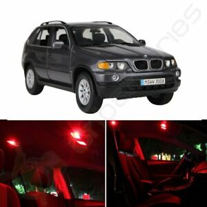 22x No Error Deluxe Red Car Led For Bmw X5 2000 2006 Interior 12v Lights Package