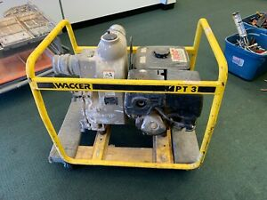 Wacker Pt3a Portable 3 Water Pump Honda Trash Gas Recoil local Pickup Only