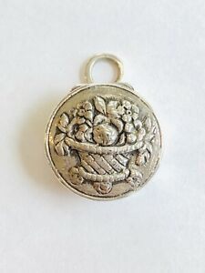 Antique Sterling Silver Pill Box Pendant Germany Excellent 11 3g