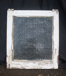 17 5 X20 Antique Vintage Wood Wooden Frame Sash Window Textured Glass Lite Pane