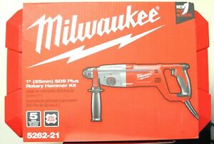 Milwaukee 1 Inch Sds Plus Rotary Hammer Kit Model 5262 21