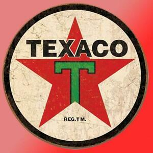 Vintage Texaco Vinyl Decal Sticker Retro Man Cave Gas Oil Garage Man Wall Tool