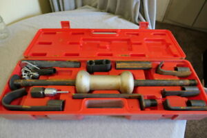 10 Lbs 10 Piece Dent Slide Hammer Puller Kit Repair Set In Carry Case Atd 5160