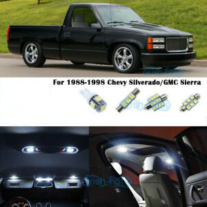 Us Map Dome White Led Interior Lights For 1988 1998 Chevy Silverado gmc Sierra