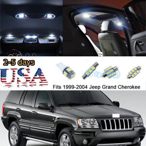 18x White Interior Led Lights Package Kit Fits 1999 04 Jeep Grand Cherokee Us