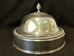 Odiot Paris Antique Silver Plate Dome Cover 19th Century French