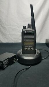 Motorola Cp185 Two Way Radio With Charger Cable And Case Tested Working