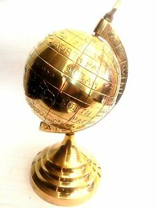 Nautical Maritime Solid Brass Globe Table Top Earth World Globe 5