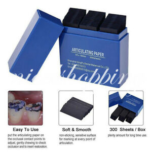 300 Sheets Dental Articulating Paper Dentist Lab Products Teeth Care Blue Strips