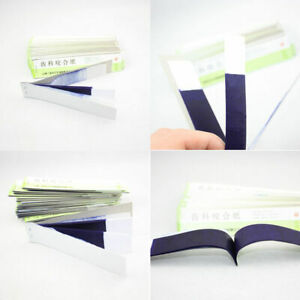200pcs Dental Articulating Paper Blue Thin Strips 10sheets book 20 Books box Red