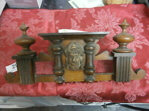 A Wall Clock German Vienna Top Finials Old Vintage Ladys Head Parts Spares