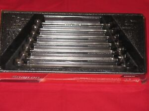 Snap On Tools 7pc Metric Combination Spanner Set Flank Drive Brand New Soexm707