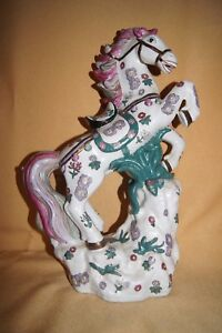 Beautiful Asian Japanese Horse Statue Signed 15 Tall