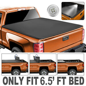 4 fold 6 5ft Bed Truck Tonneau Cover For 2002 2019 Dodge Ram 1500 2500 3500