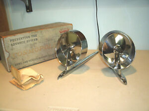Ford Chevy dodge Vintage Outside Mirrors 2 Art Deco Nos