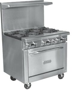 Royal Commercial 6 Burner 36 hd Gas Range Royal Range Rr 6