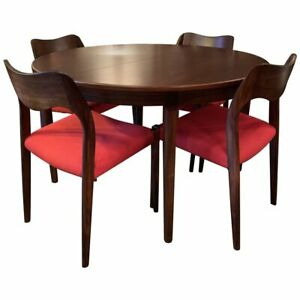 Danish Modern Niels O Moller Round Rosewood Extension Dining Set