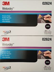 Lot Of 2 100 Sheet 3m 02624 Wetordry 2000 Grit 5 1 2 X 9 Inch Same As 2024 New