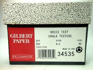 Envelopes Gilbert Paper Voice Text Chalk Texture 240 Ct 34535 William House