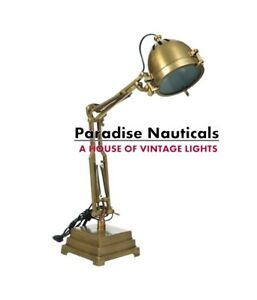 Brass Plated Bankers Piano Lamp Adjustable Arm Lamp