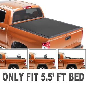 5 5ft Bed 4fold Truck Tonneau Cover For 09 14 Ford F150 W O Utility Track System
