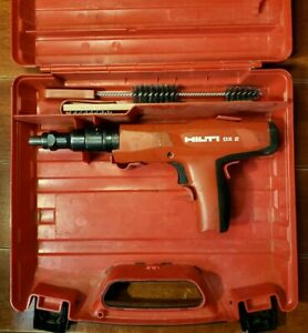 Hilti Dx 2 Powder Actuated Fastening Tool Plastic Case New Piston Ramset Powers