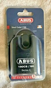 Abus 190cs 60 High Security Combination Padlock Hardened Steel Resettable Combo