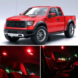 7x Red Car Led Lights Bulb Interior Package Kit For Ford F150 2004 2008 Lamps