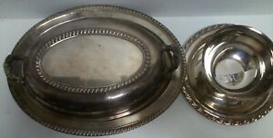 H Rogers Covered Silverplate Oval Serving Bowl Wma Rogers Sauce Candy Dish