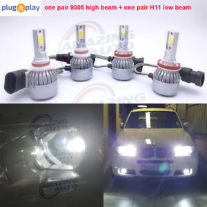 9005 h11 Combo Led Headlights Conversion High low Beam 6000k White 55w 8000lm