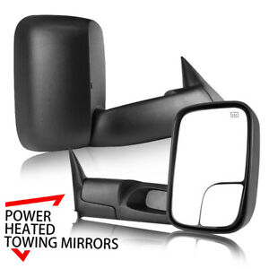 L R Fit 98 01 Dodge Ram 1500 2500 3500 Flip Up Power Heated Towing Mirrors
