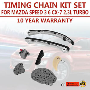 Timing Chain Kit Set For 2006 2013 Mazda Speed 3 6 Cx 7 Turbo Parts New 3 0l