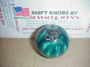 Rat Fink Custom Shift Knob With Pewter Logo Car Truck green Pearl