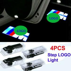 4pcs Bmw M Logo Car Door Led Light Projector Emblem Ghost Shadow Hd Courtesy