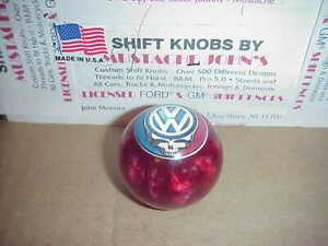 Vw Grateful Dead Steal Your Face Custom Shift Knob Car Truck red Pearl