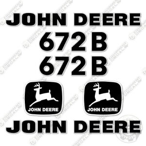 John Deere 672b Motor Grader Decal Kit Equipment Decals Road Grader Asphalt