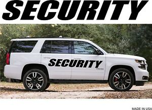 Set Of 2 Pcs Custom Security Vinyl Graphics Decals For Any Vehicle Boat Truck