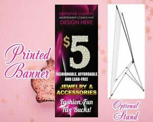Paparazzi Banner Stand Full Color Printed Vinyl Banner X Style 24 X 52