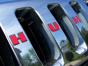 Hummer H2 Decals Grille Overlay Decals Stickers Fits Hummer H2