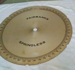 Fairbanks Springless Antique Scale 500lbs Face Backer