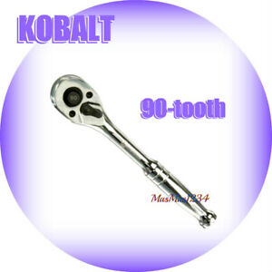 Kobalt 1 4 Drive 90 tooth Quick Release Ratchet 337307 New Fast Shipping