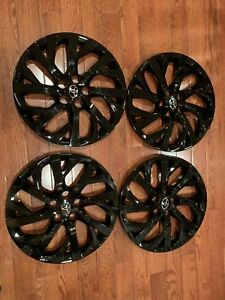Set Of 4 Black 16 Hubcaps Wheelcovers Fits 2017 2019 Toyota Corolla Le And Se