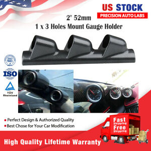 Black 52mm Auto A Pillar Pod 3 Triple Gauge Holder Mount Pod Bendable Universal