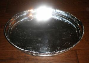 Stunning Cheltenham Silver Co Made In England Silver Plate Butler Serving Tray