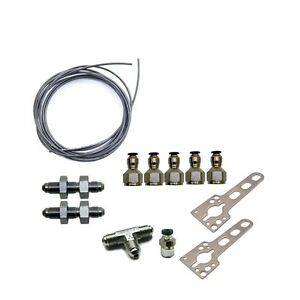 15604 Nitrous Express Dual Vent Outlet Poly Purge Line And Fittings Kit