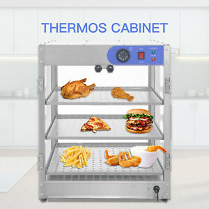 20 x20 x24 3 tier Commercial Countertop Food Pizza Warmer Display Cabinet Case