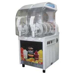 I pro 2 Barrel Slush Frozen Dispenser Smoothie Machine New Manuel