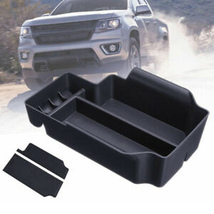 For Chevy Colorado 2015 2019 Center Console Armrest Organizer Storage Boxes Tray